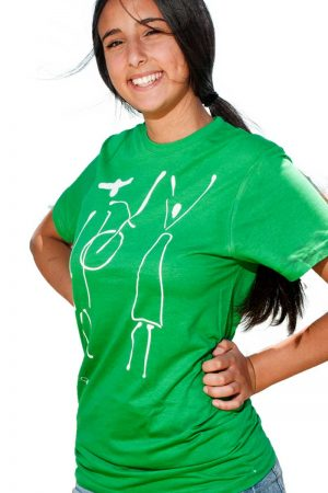 T-shirt People Chitarrista + Cantante Verde Donna
